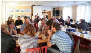 Diskussion i grupper. Foto: Sofie Ninnes